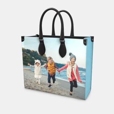 Shopping Tasche Leder mit Foto