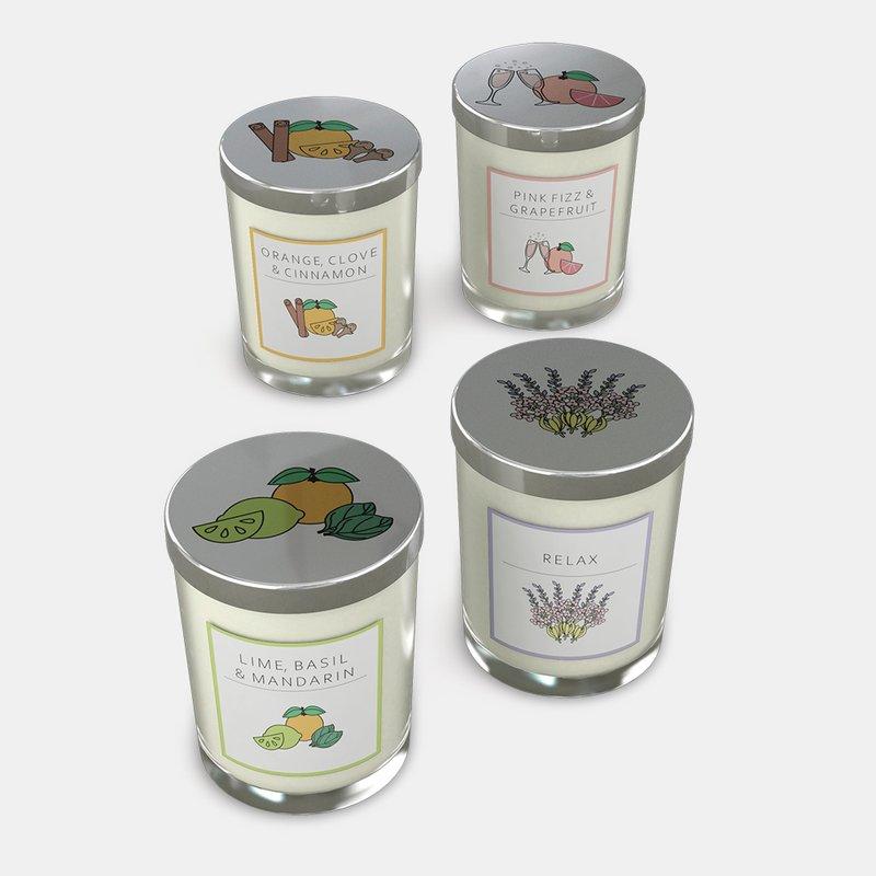 custom glass candle jars scents