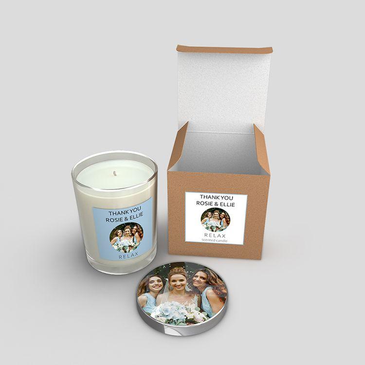 bougies personnalisées en verre