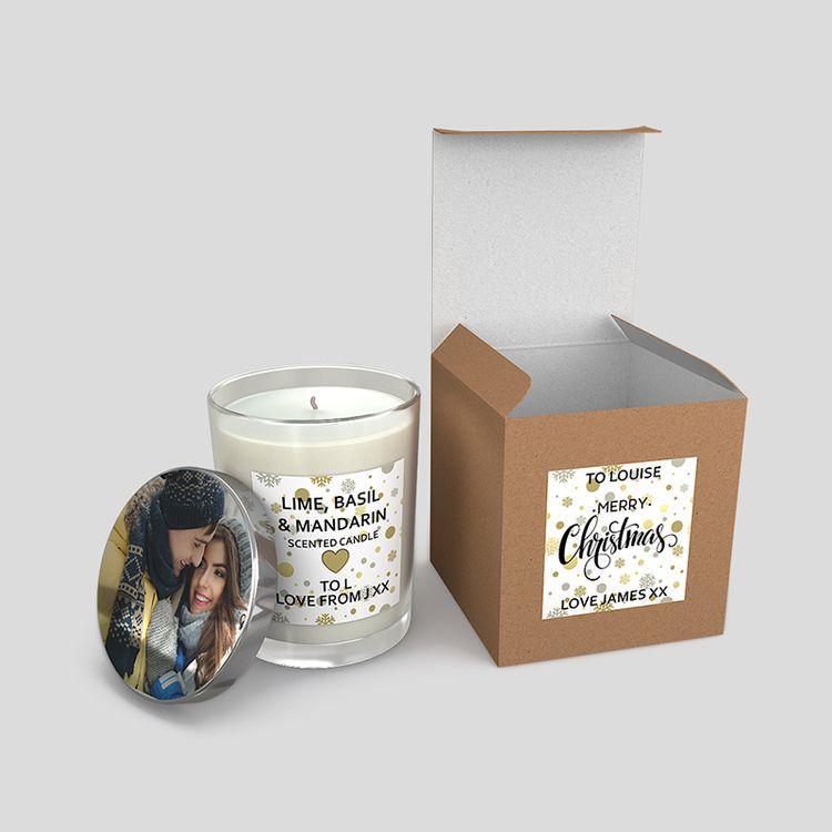 Photo Glass Candles uk