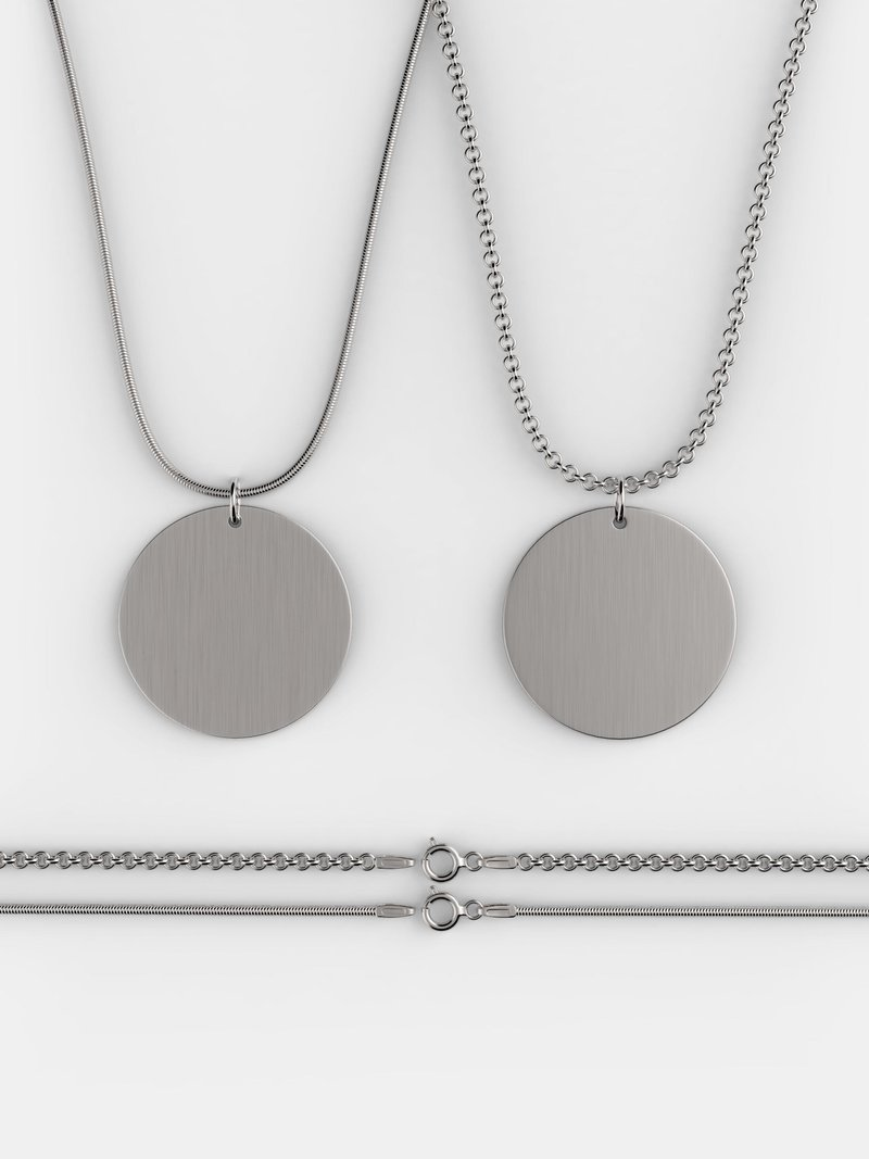 collar de plata de ley personalizado cadena