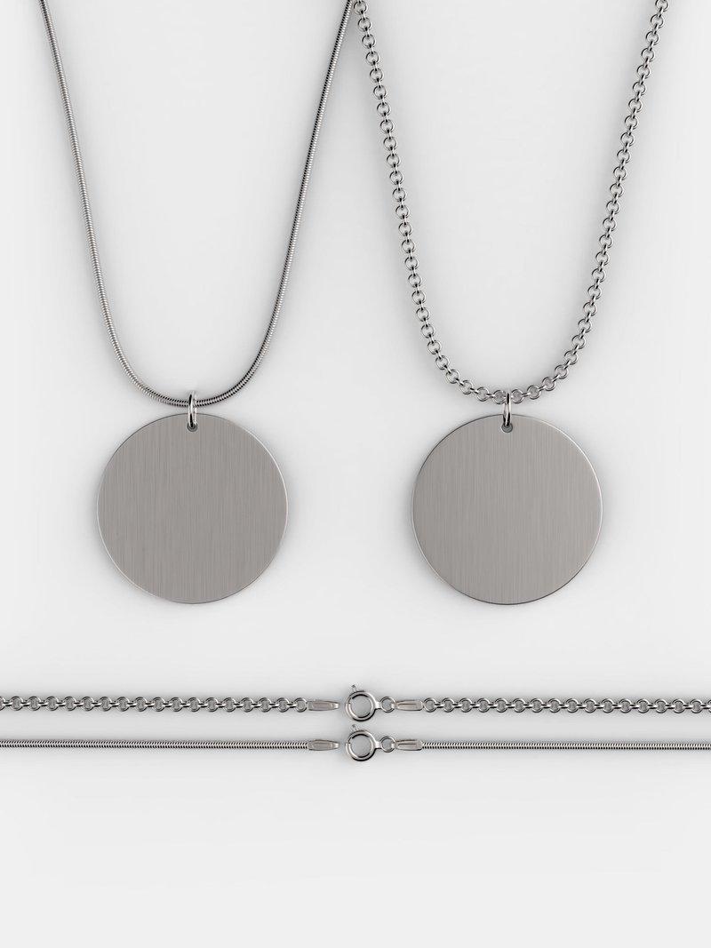twee soorten gepersonaliseerde zilveren ketting
