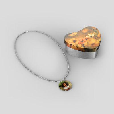 halsband av sterlingsilver med foto