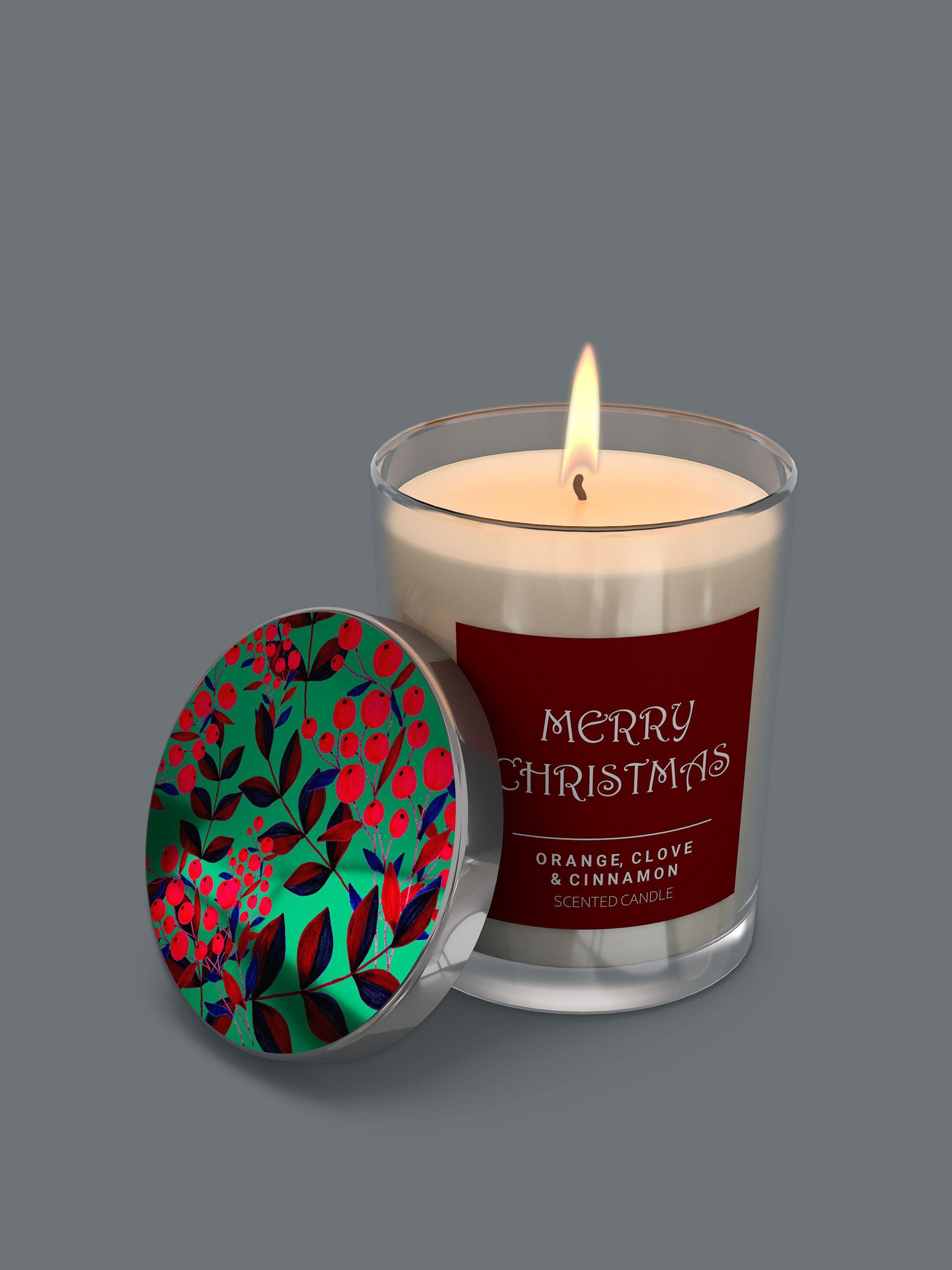 Personalisierte Kerze im Glas mit Deckel