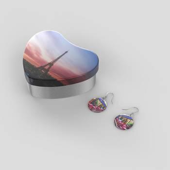 Boucles d'oreilles personnalisées argent sterling