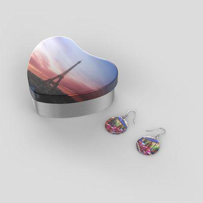 Echtsilber Ohrringe mit Foto