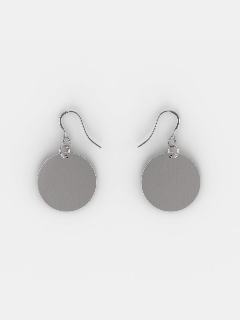 Individuelle Silber Ohrringe