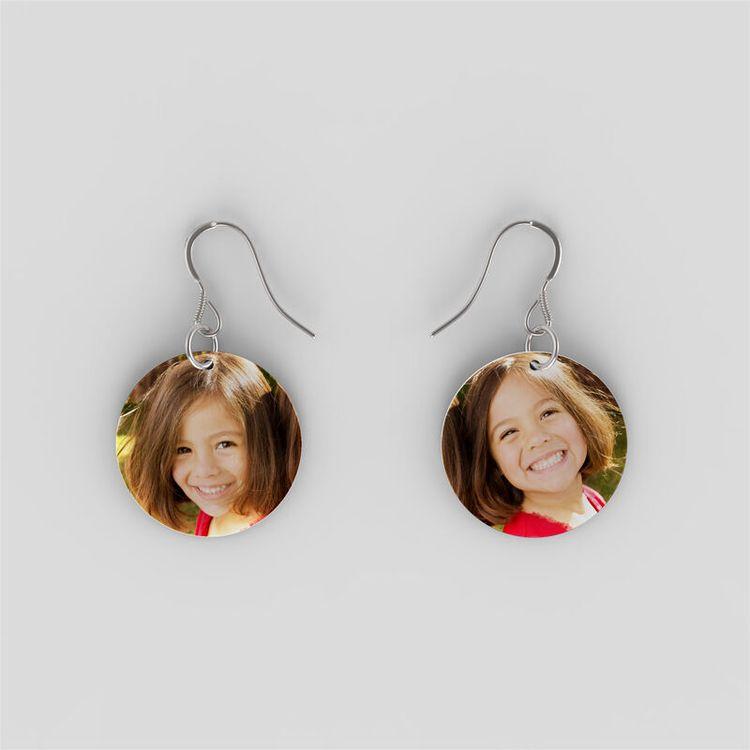Boucles d'oreilles personnalisables avec photo