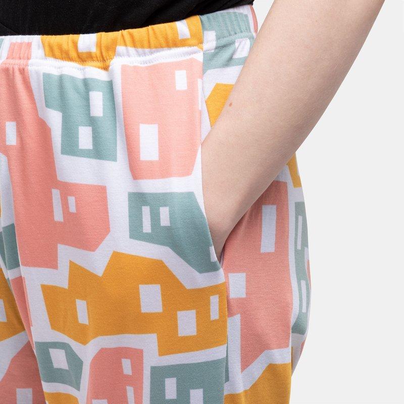 レディースパジャマボトム デザイン ポケット付き