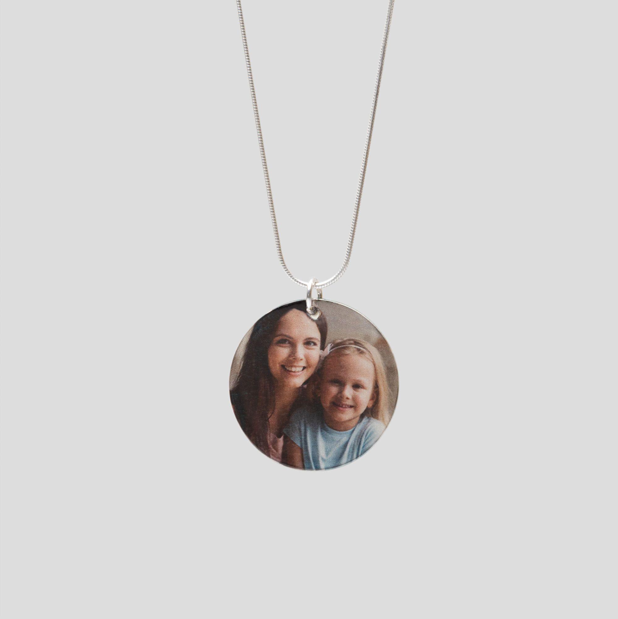 Echtsilber Halskette mit Foto