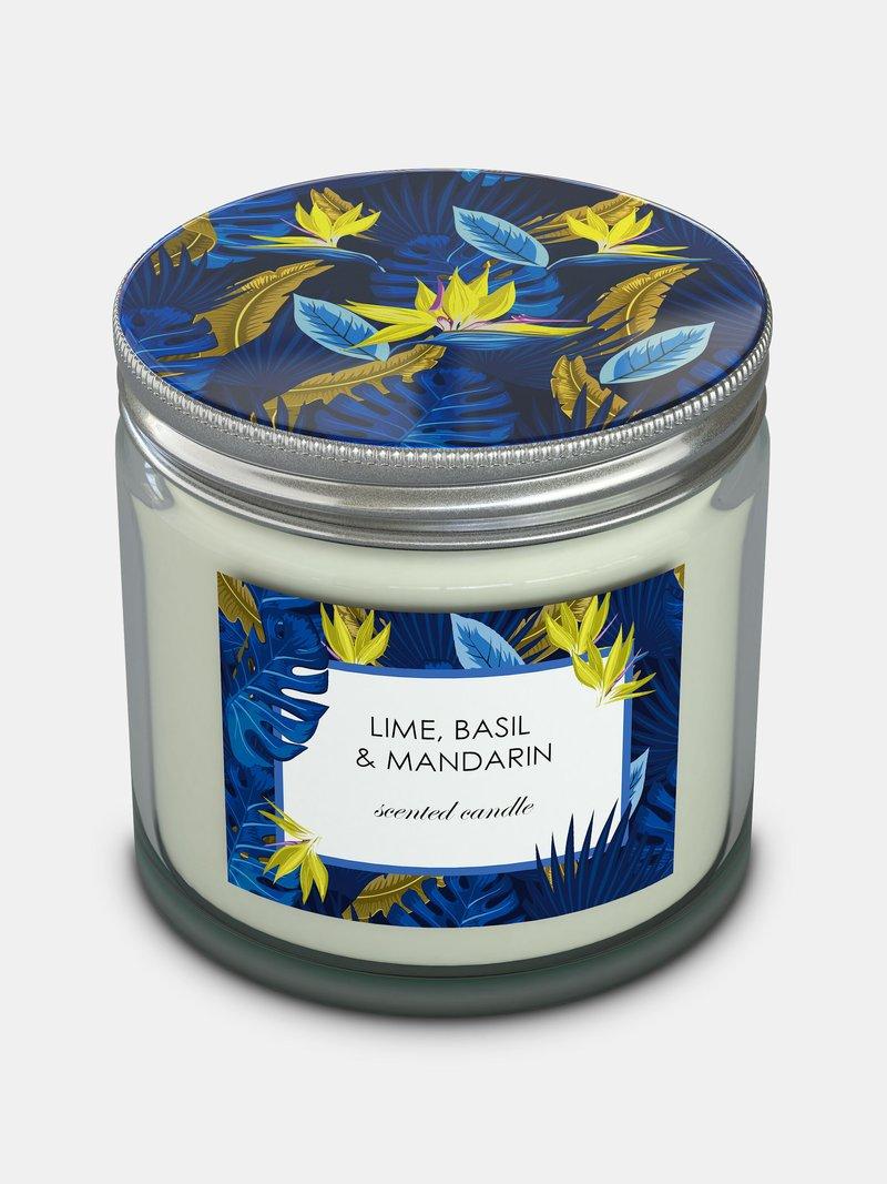 candle with custom jar