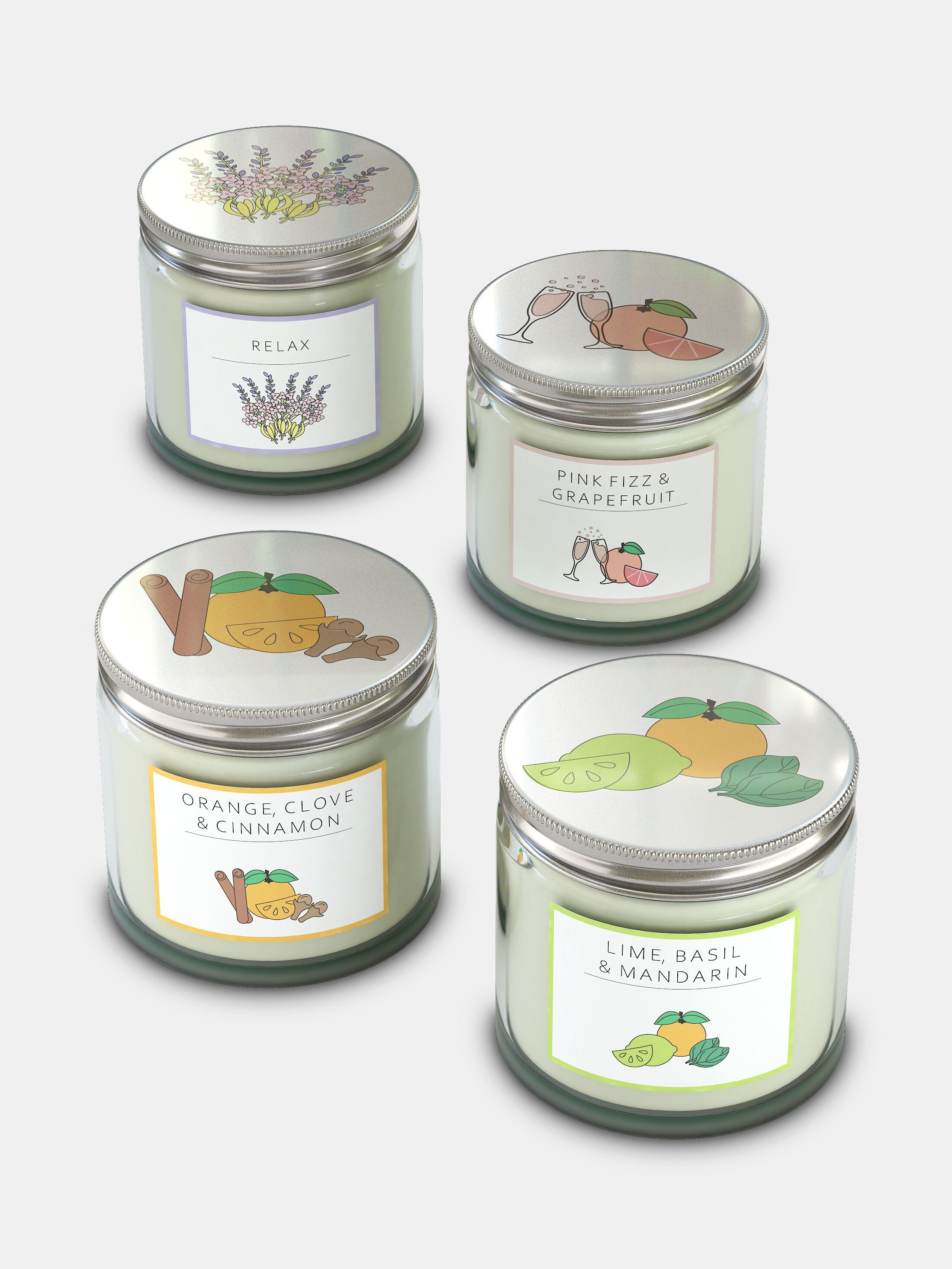 Printed Candle Jars AU