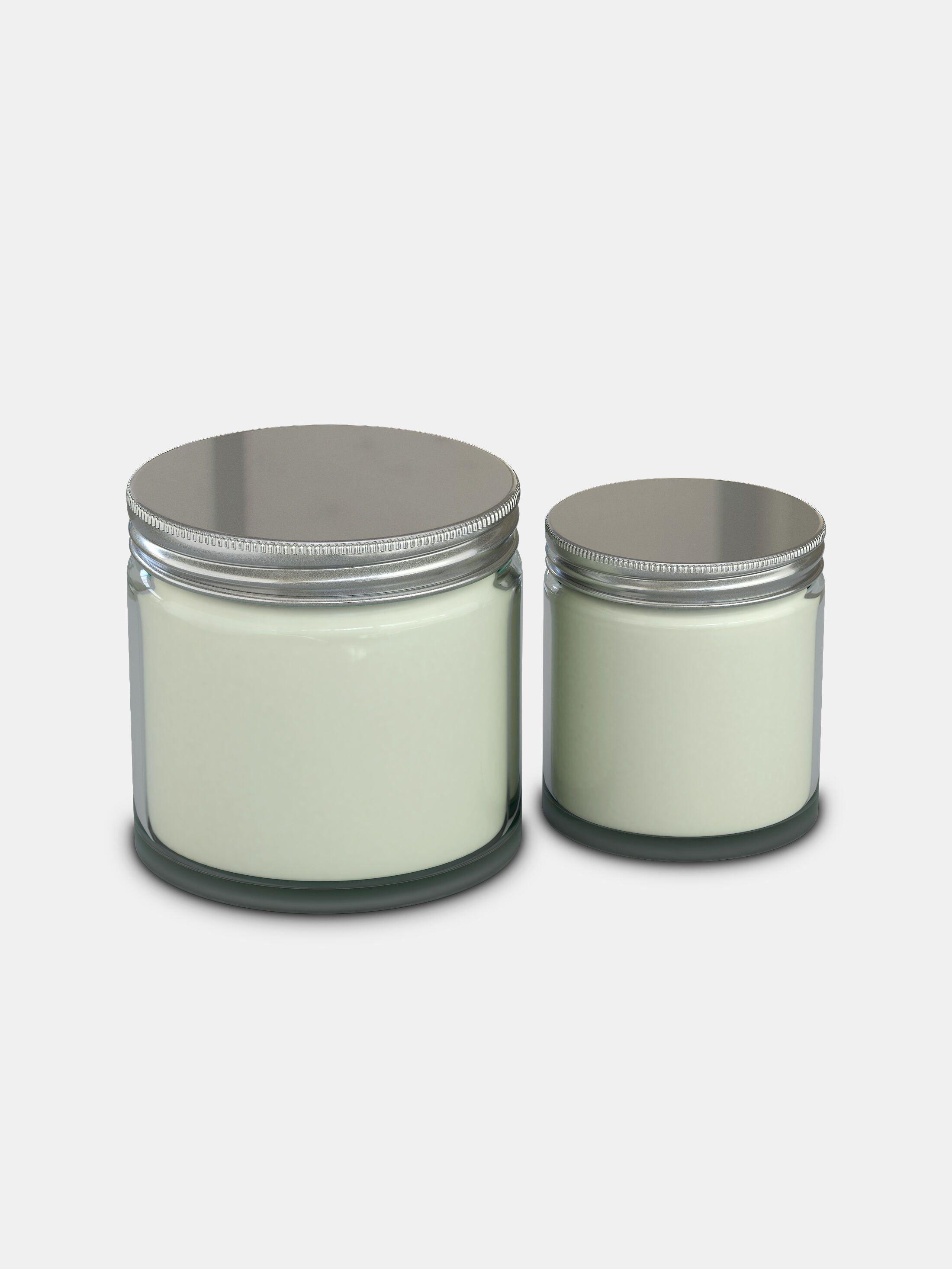 printed candle jars