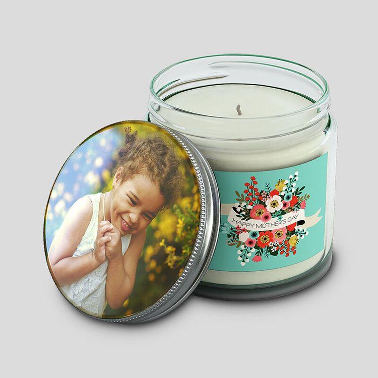 photo jar Candle