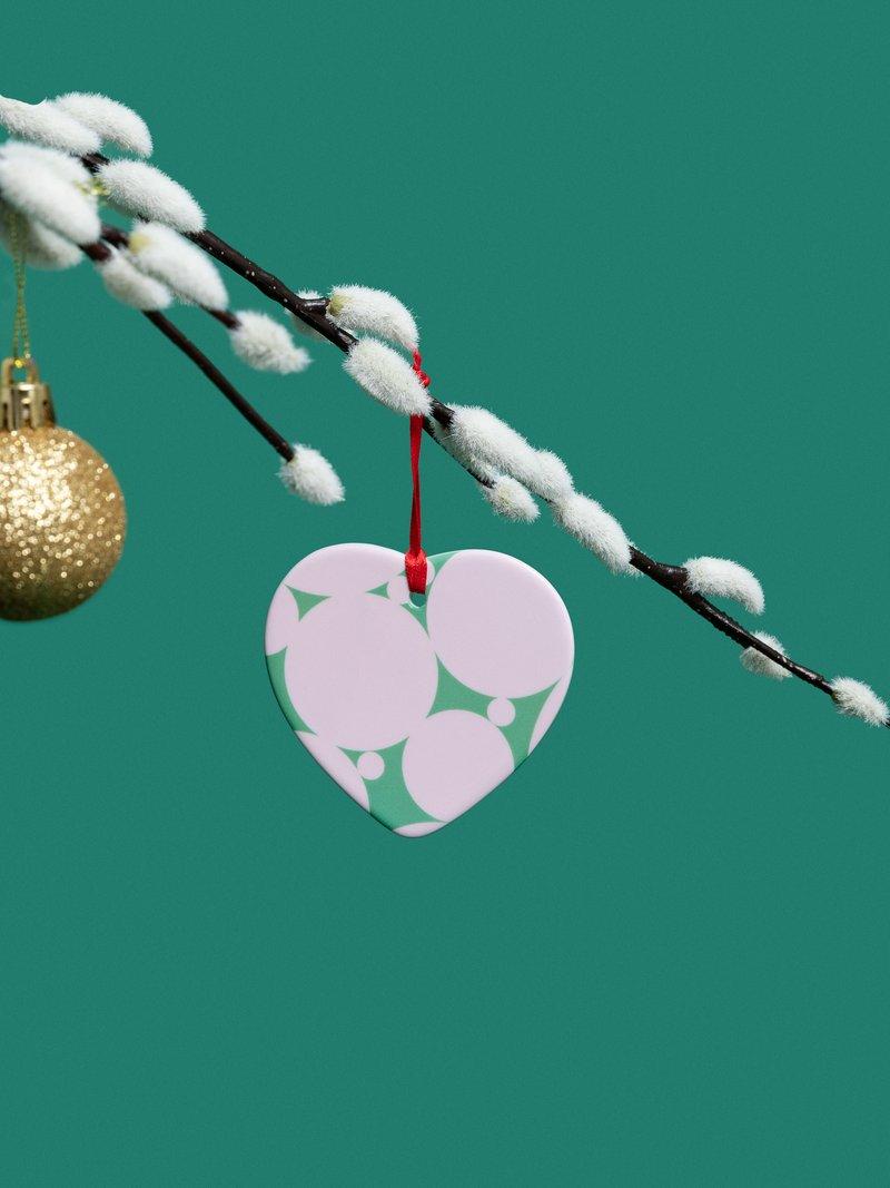 printed christmas ornaments with cute presentation bag