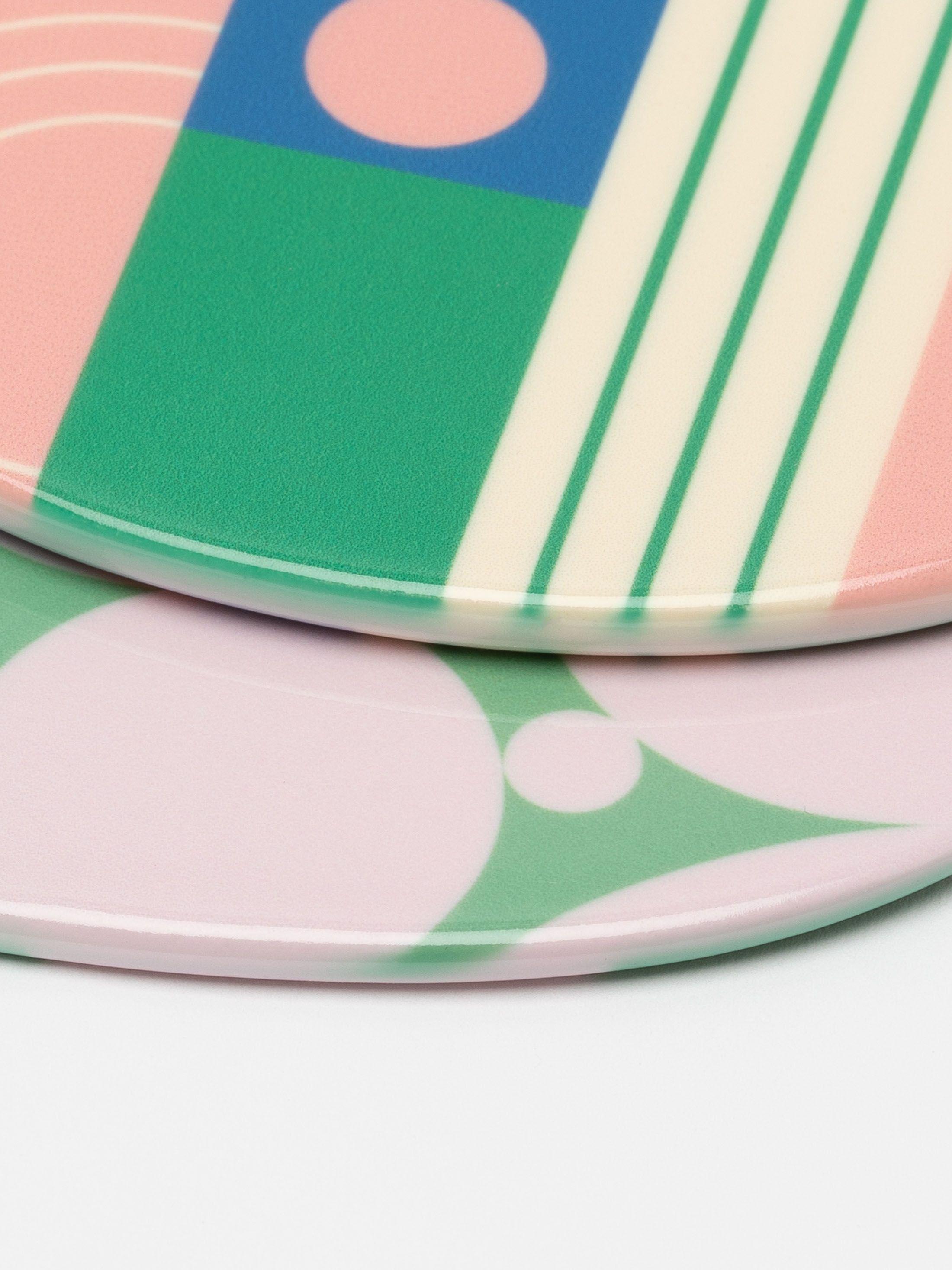 Gloss-Weihnachtsanhänger Seitenansicht