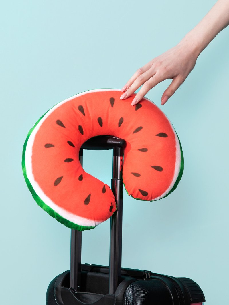 Watermelon design travel neck pillow Print