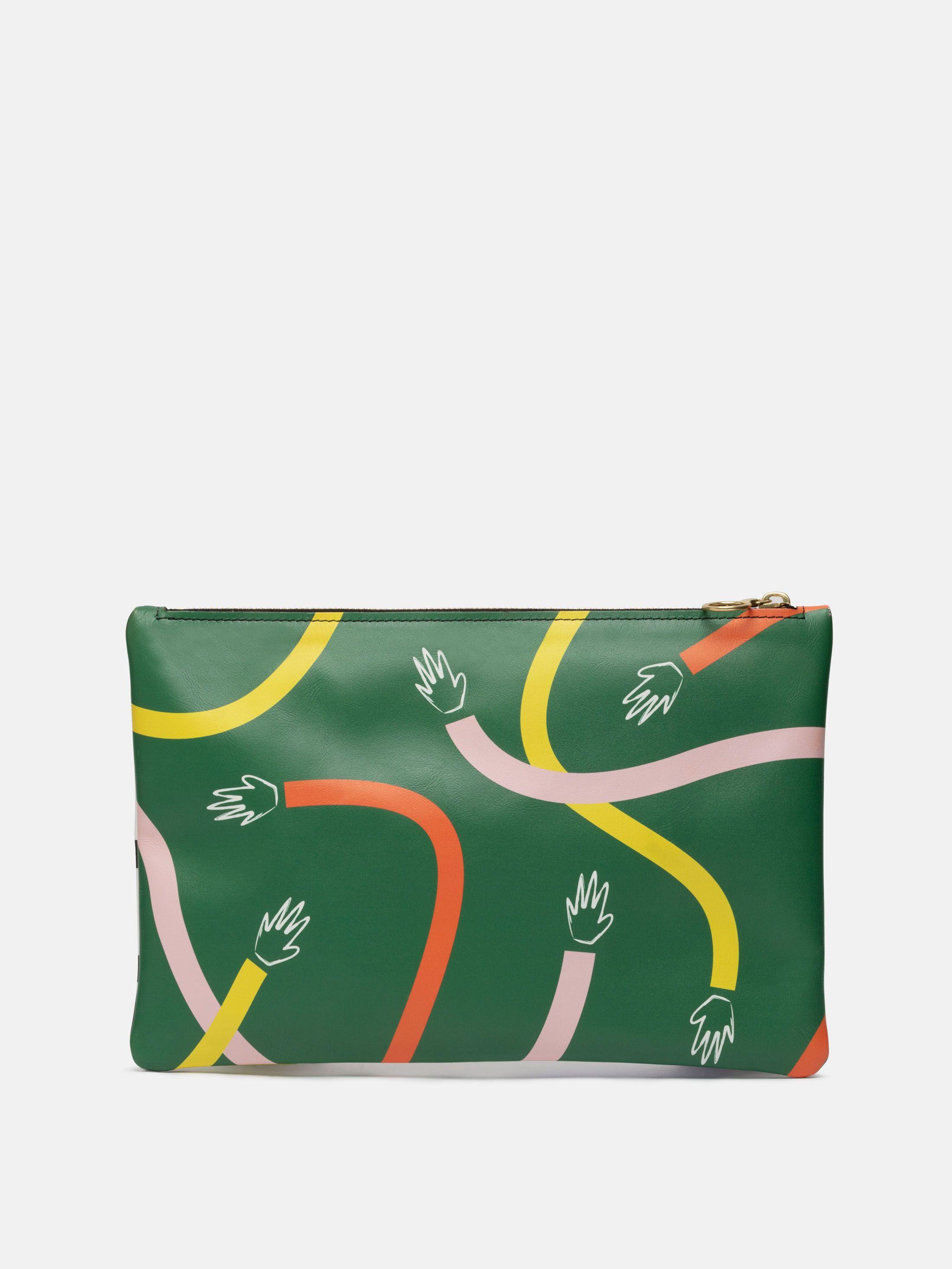 custom design leather clutch