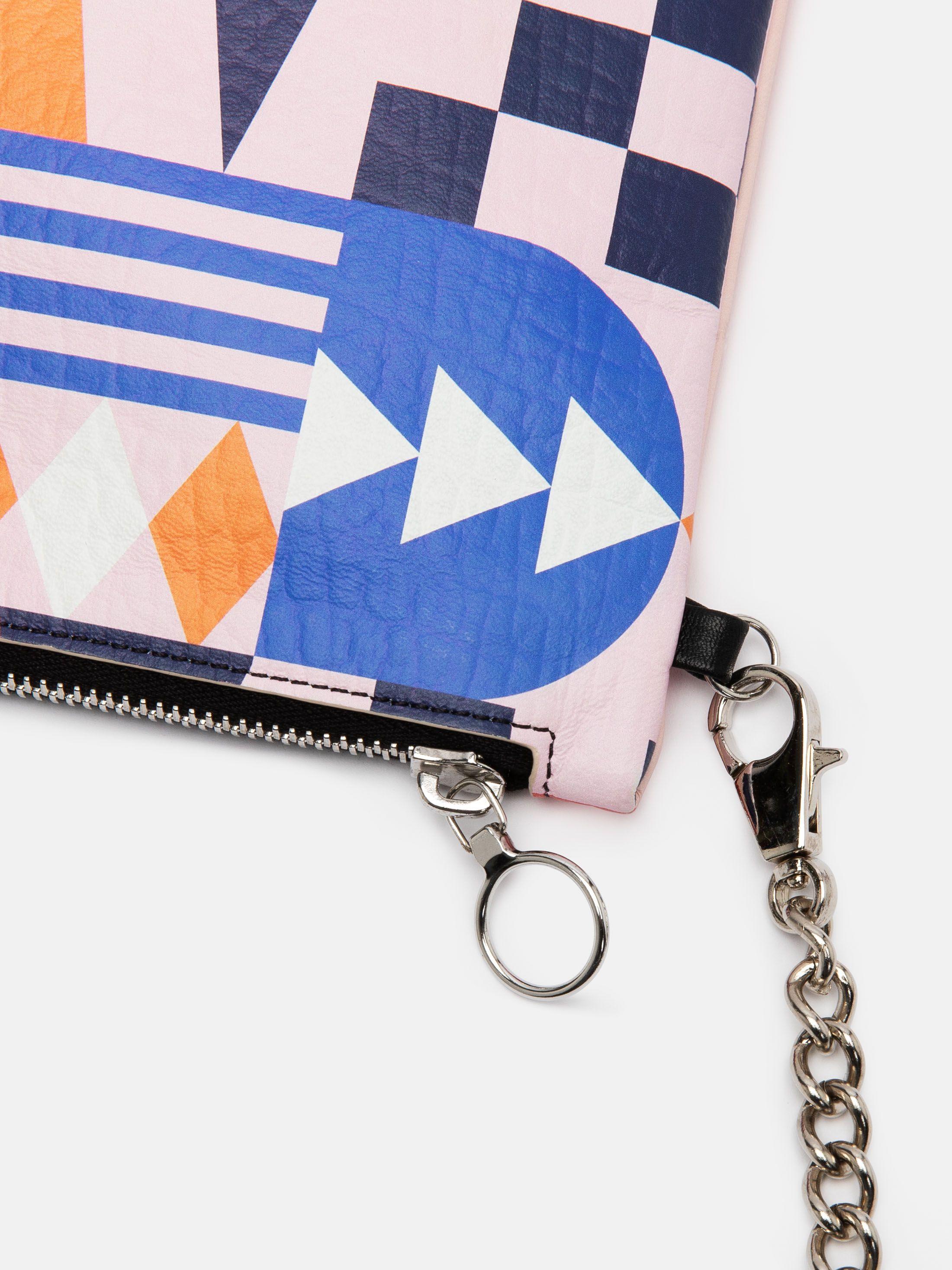 zipper detail custom cross body bag