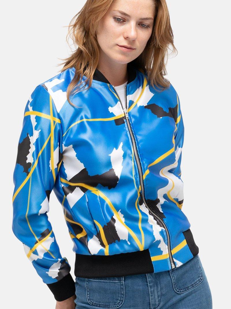 printed bomber jacket women's