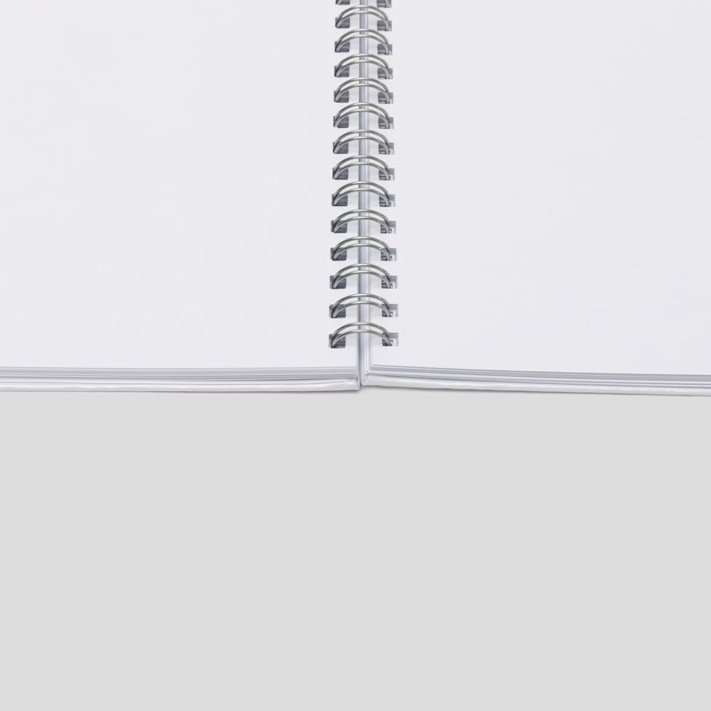 Intérieur du cahier à spirales personnalisé