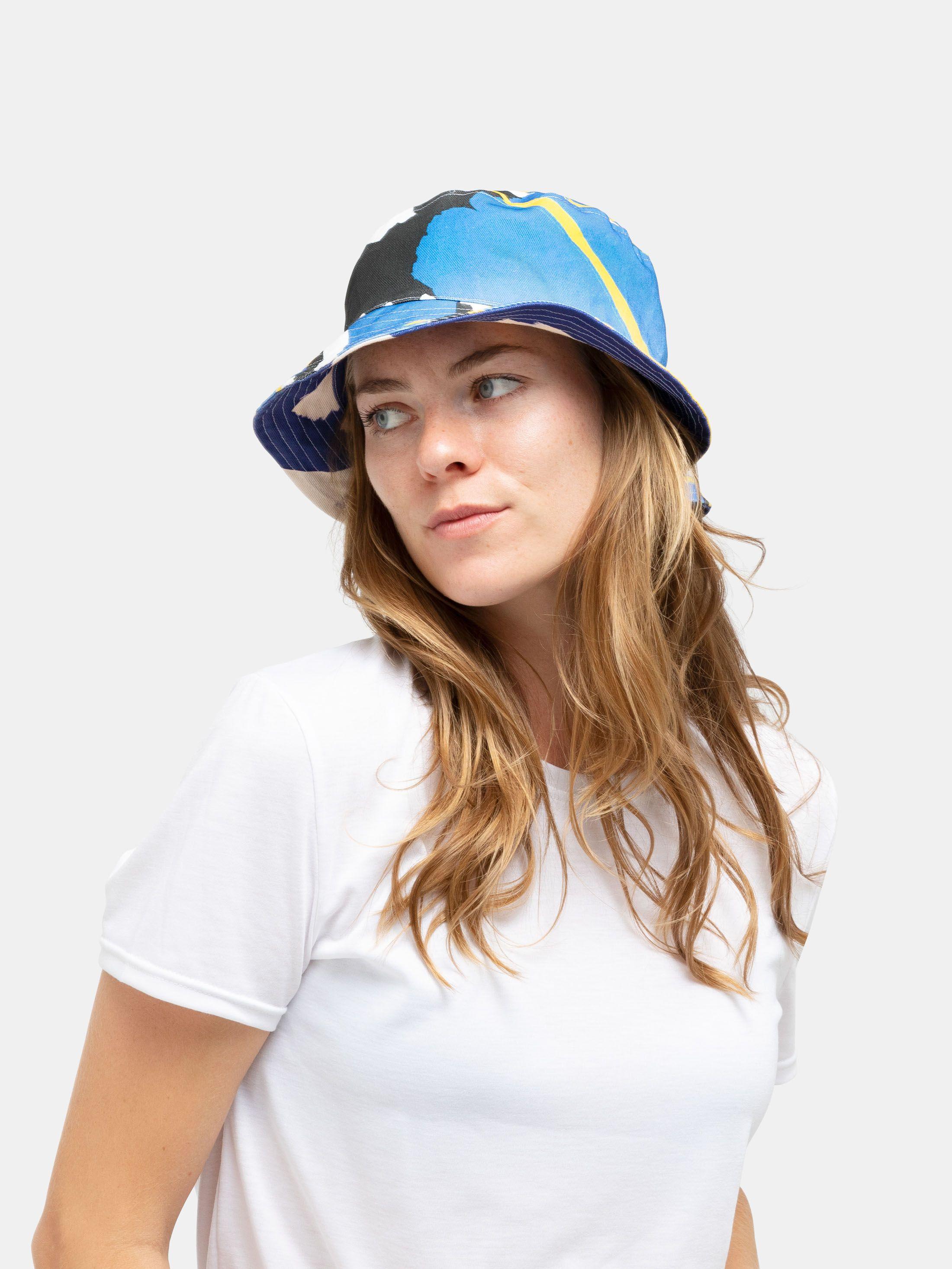 custom bucket hat close up