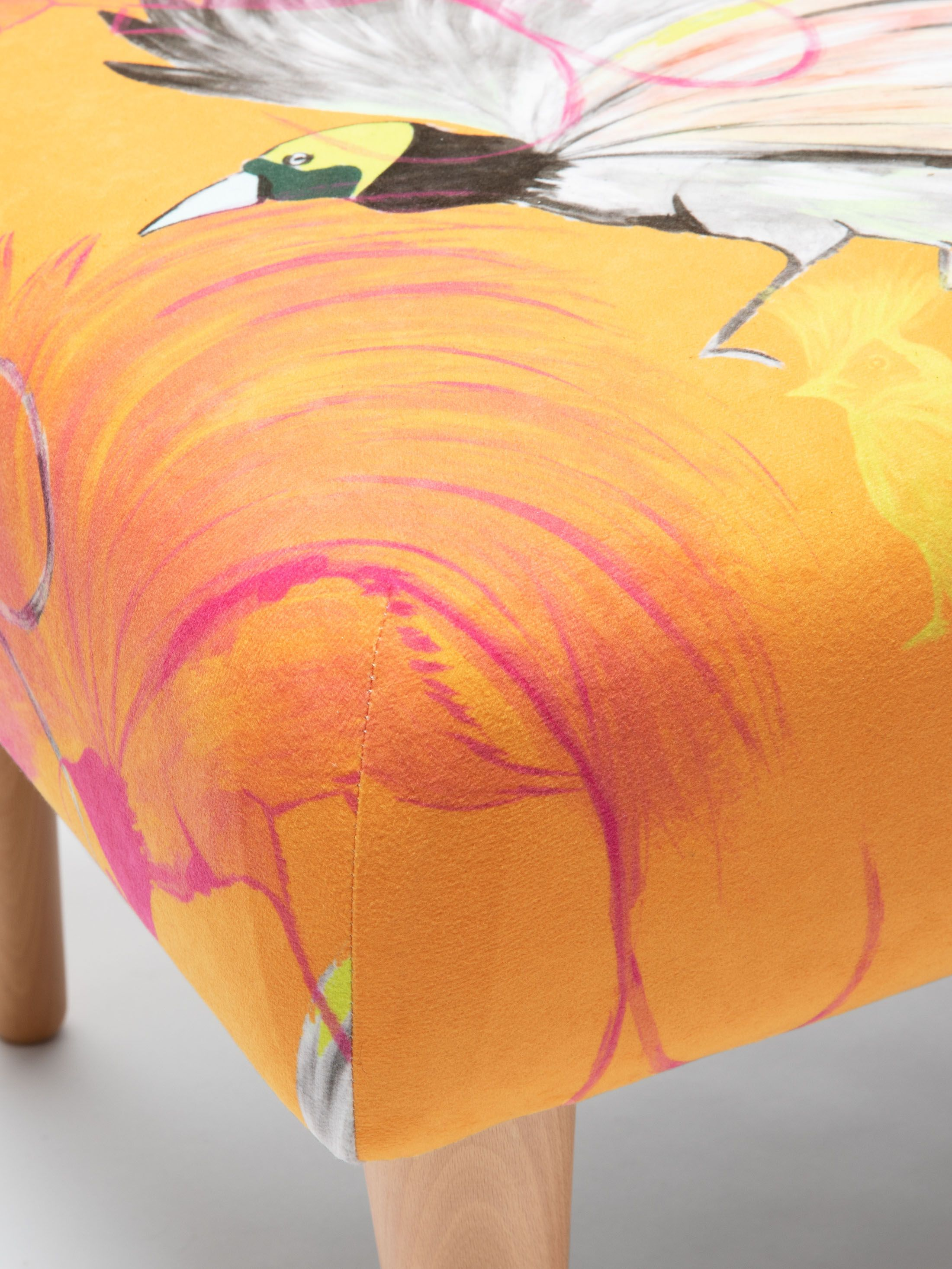 floral footstool