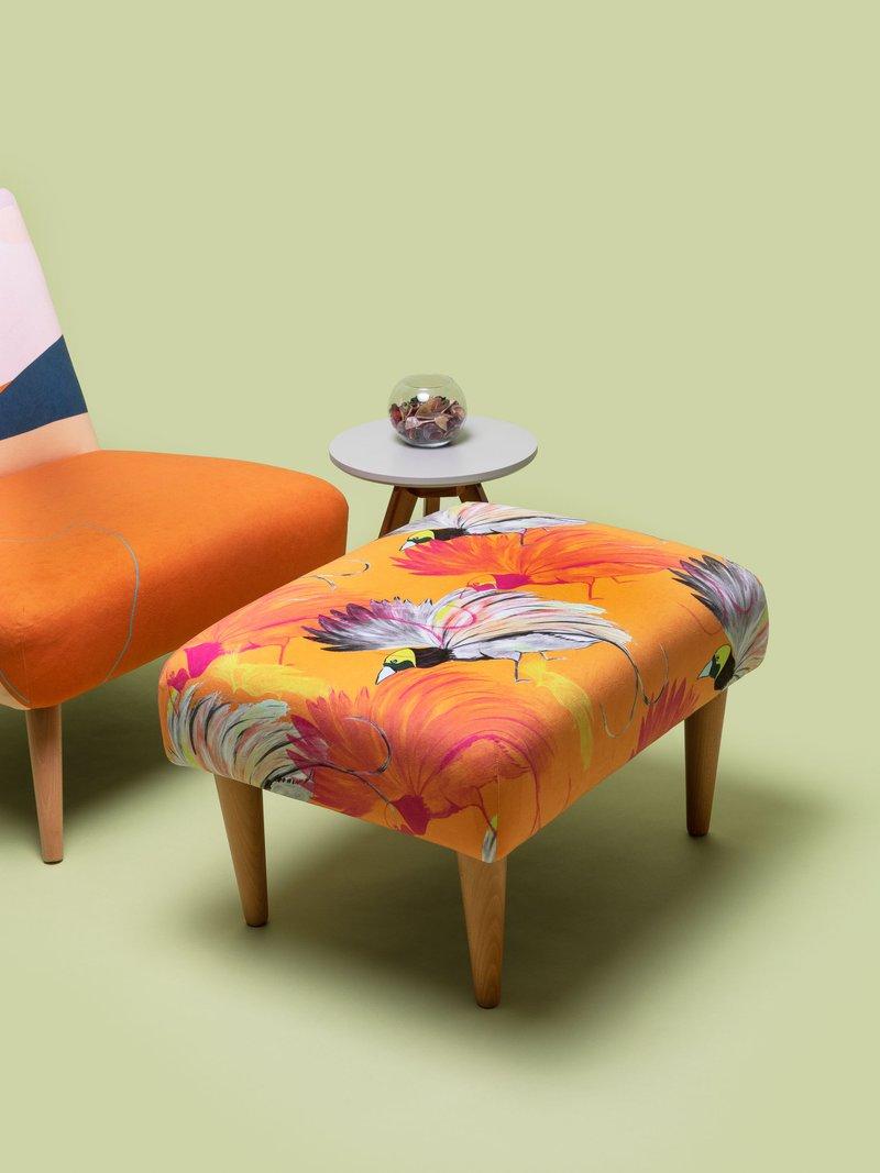 repose pied design floral