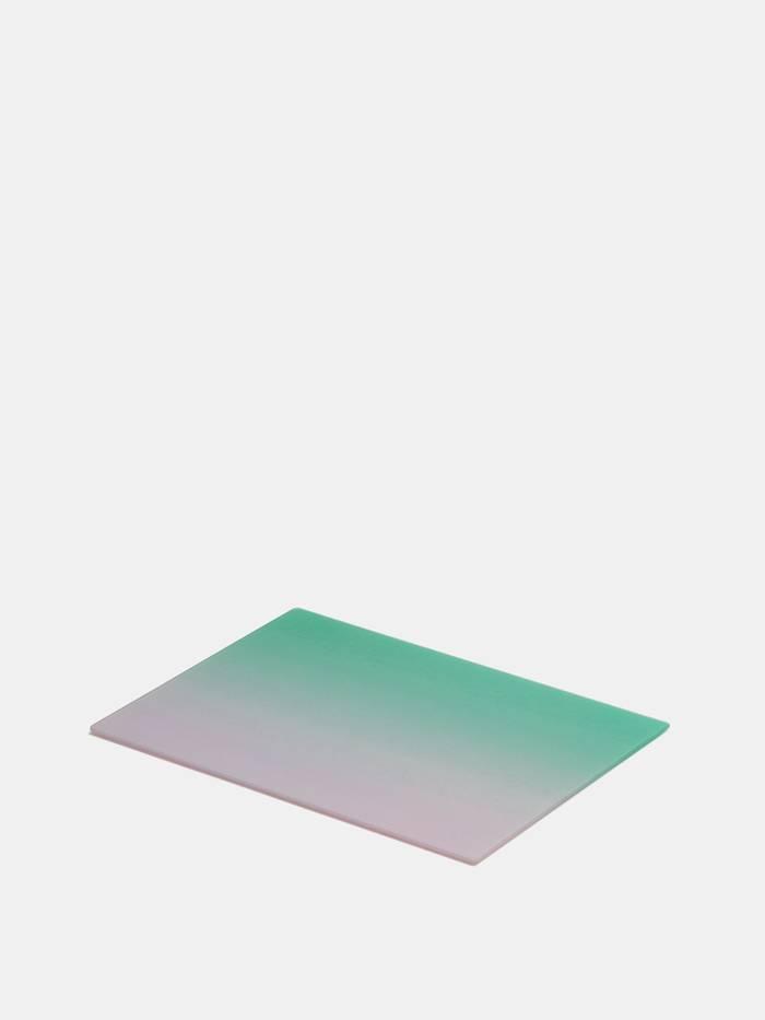 skärbräda av glas med eget tryck