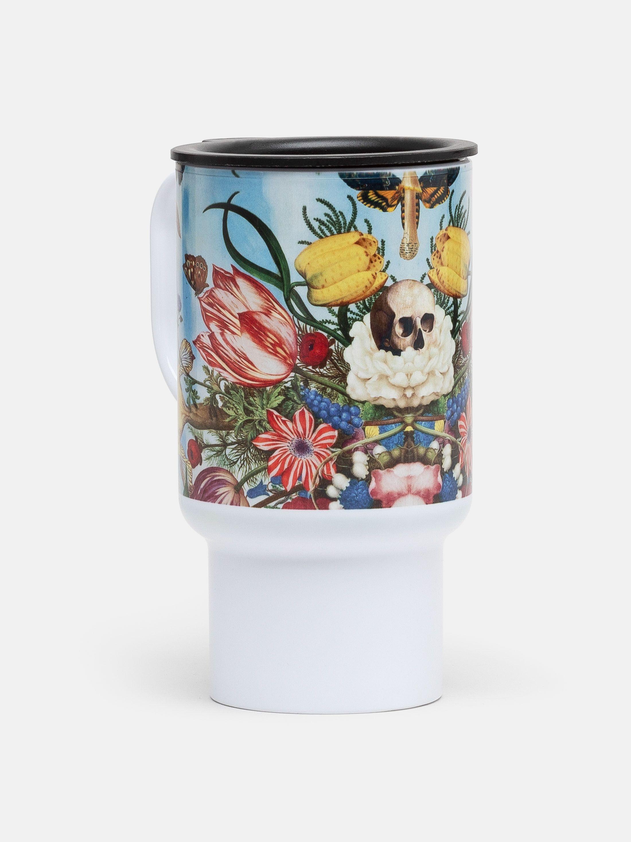 Open Travel mug design printed