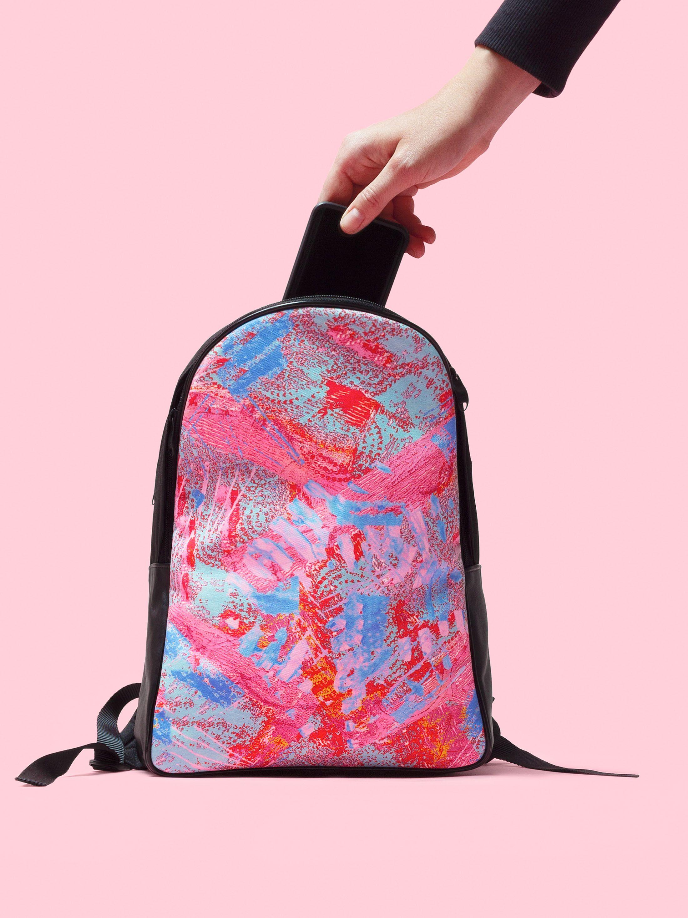 Vue arrière du sac à dos