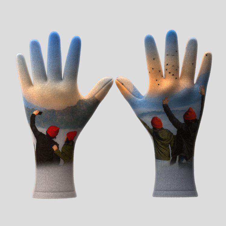 custom winter gloves