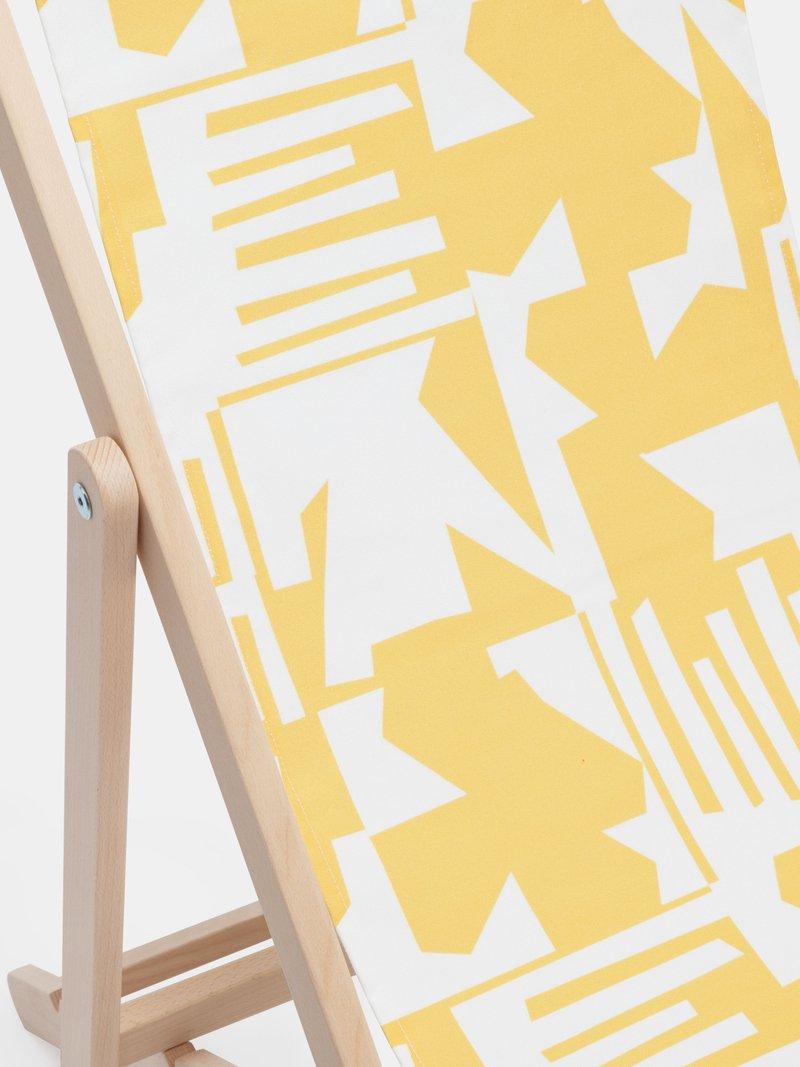 Détails du transat imprimé avec design