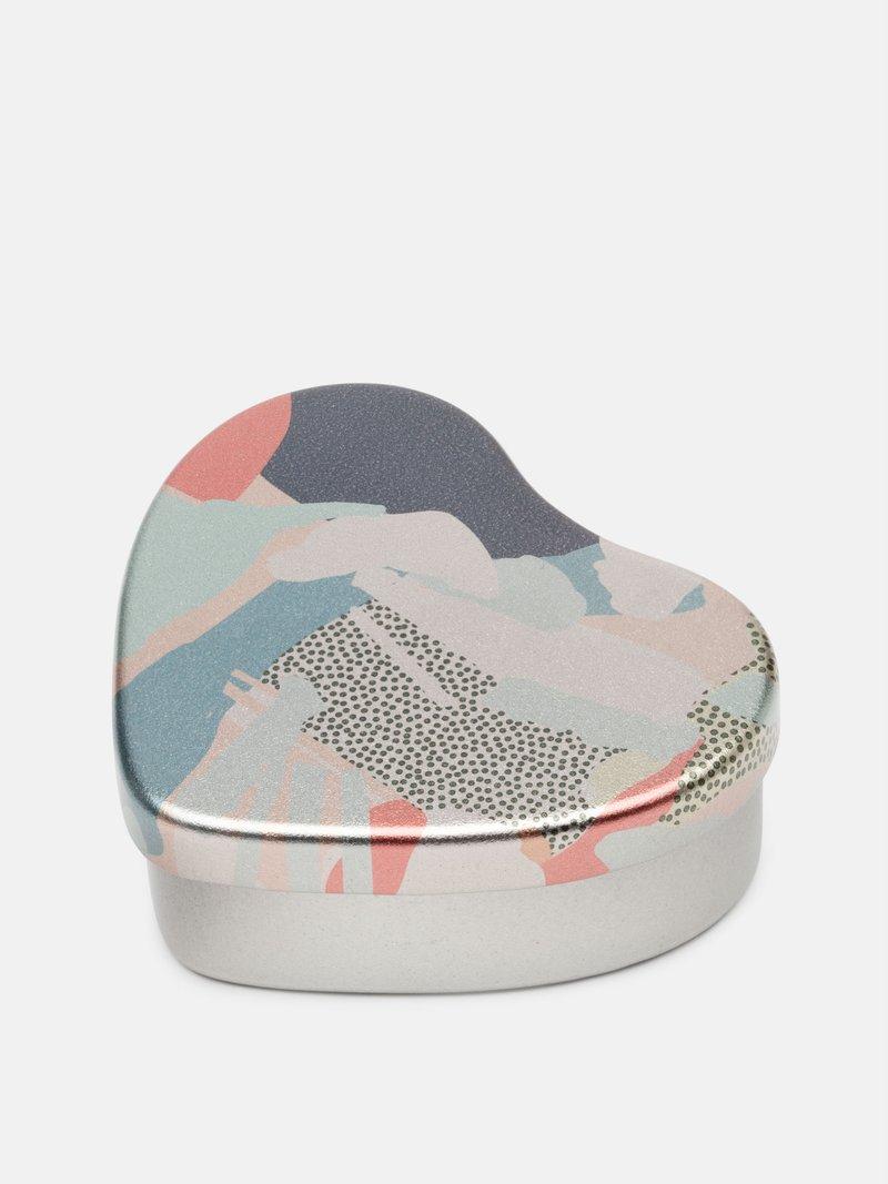 Boîte coeur avec un design géométrique