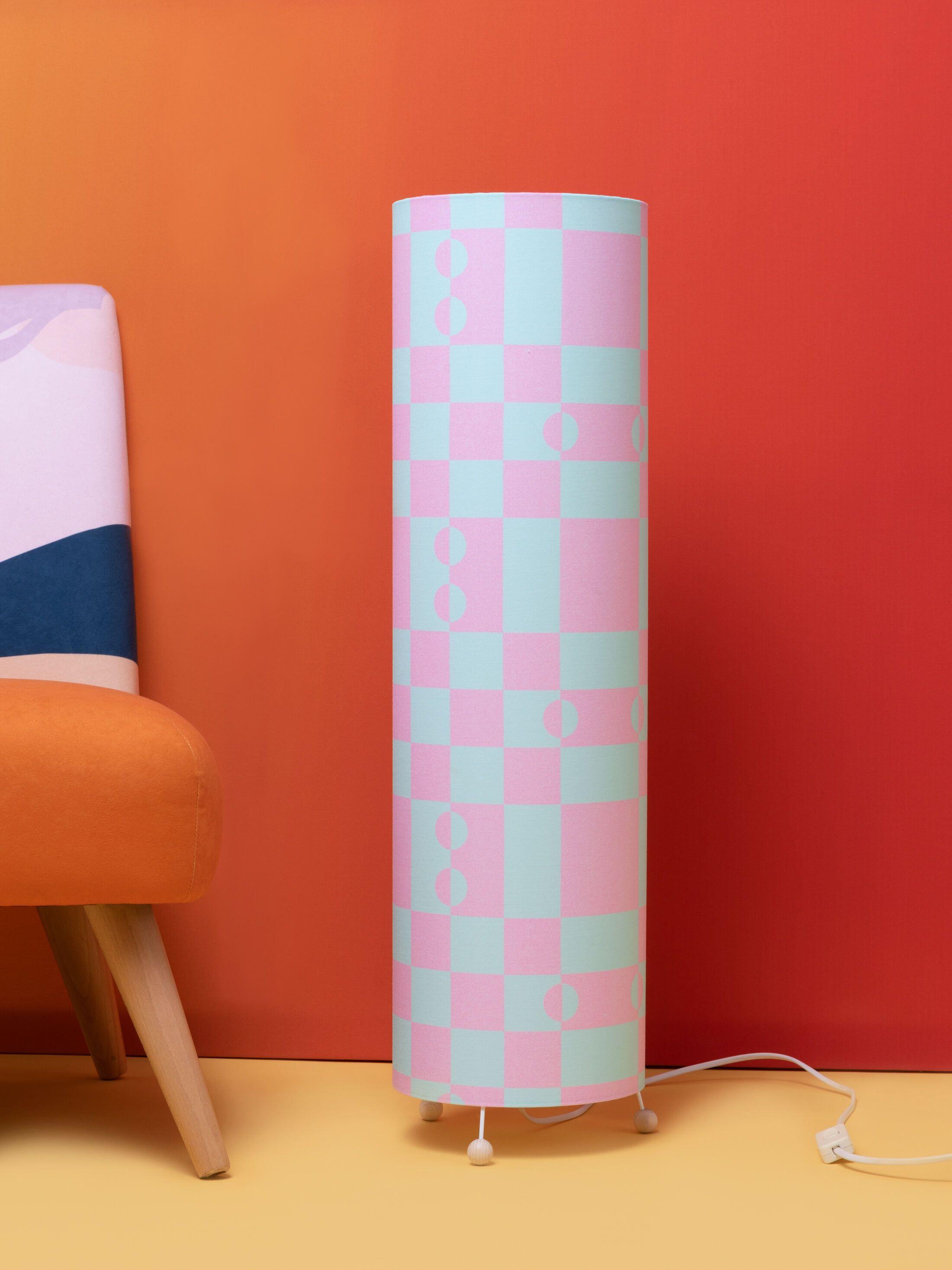 lampe personnalisable motif patchwok