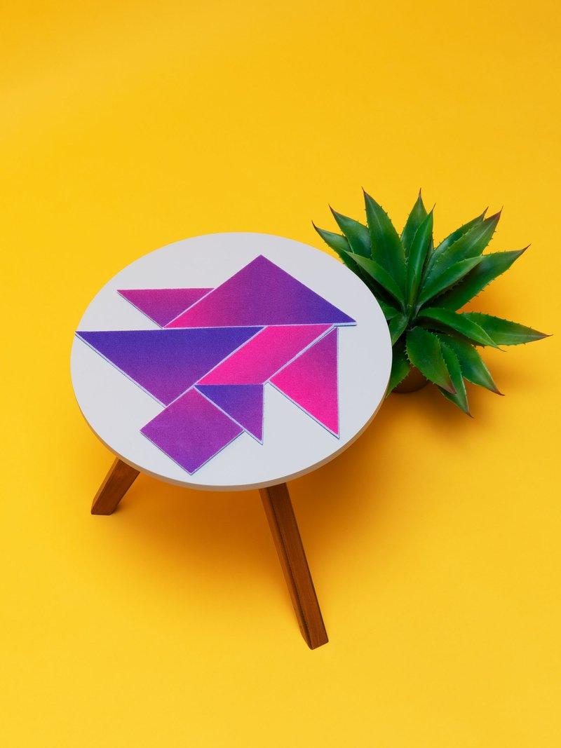 custom tangrams cat shape