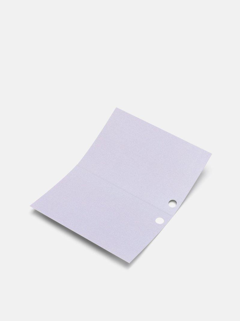 半分折りの値札タグにデザイン印刷