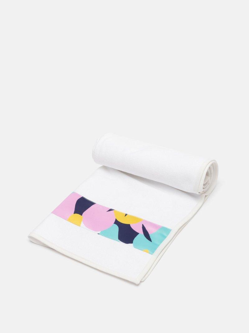 Serviettes de toilette avec bande en satin