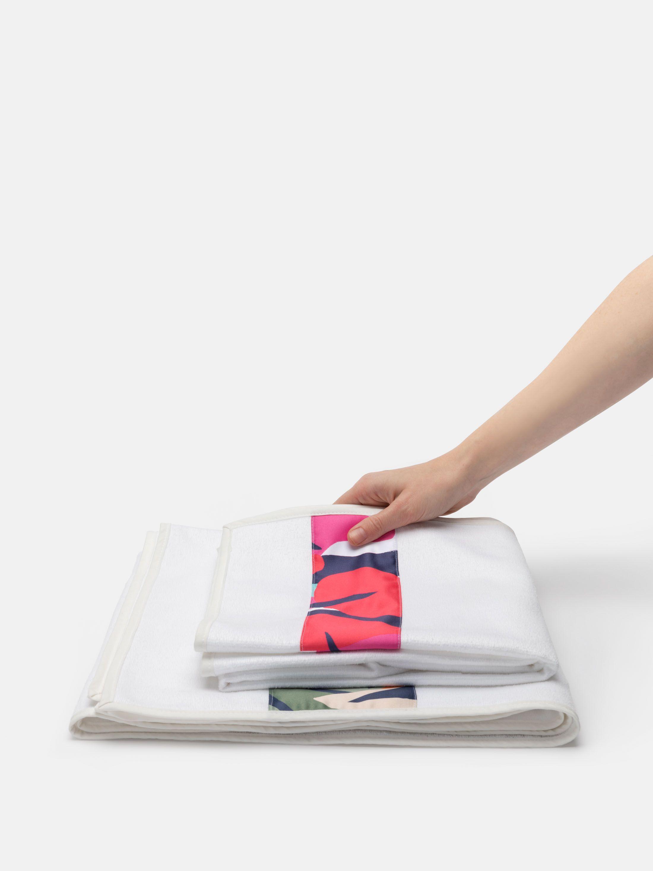 binding on custom towels