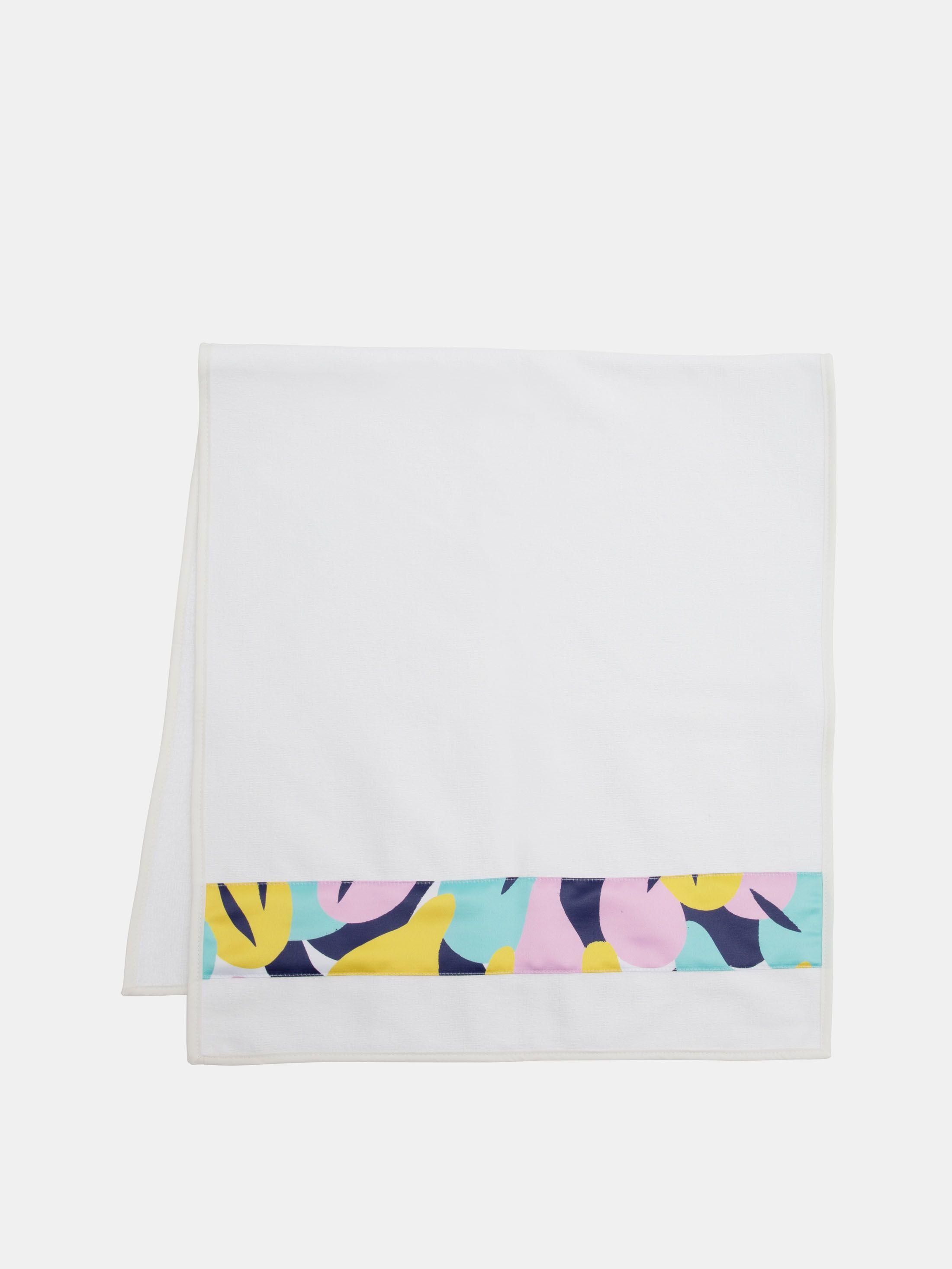 細長いサテン生地付き バスタオルセット 印刷