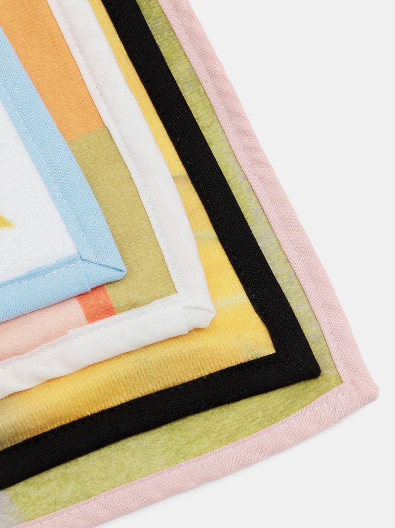 printed bath towels binding