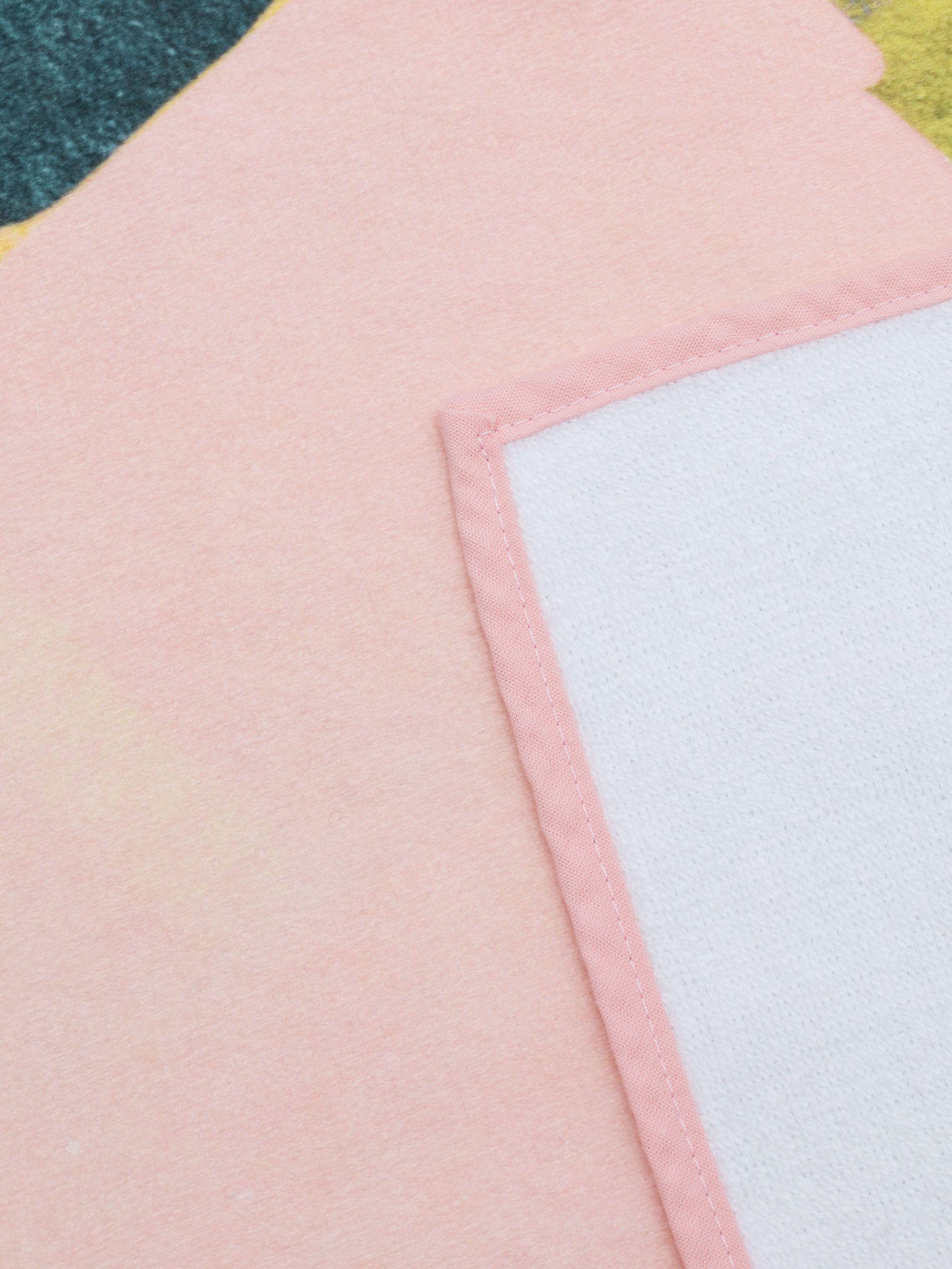 details bedrukte badlakens