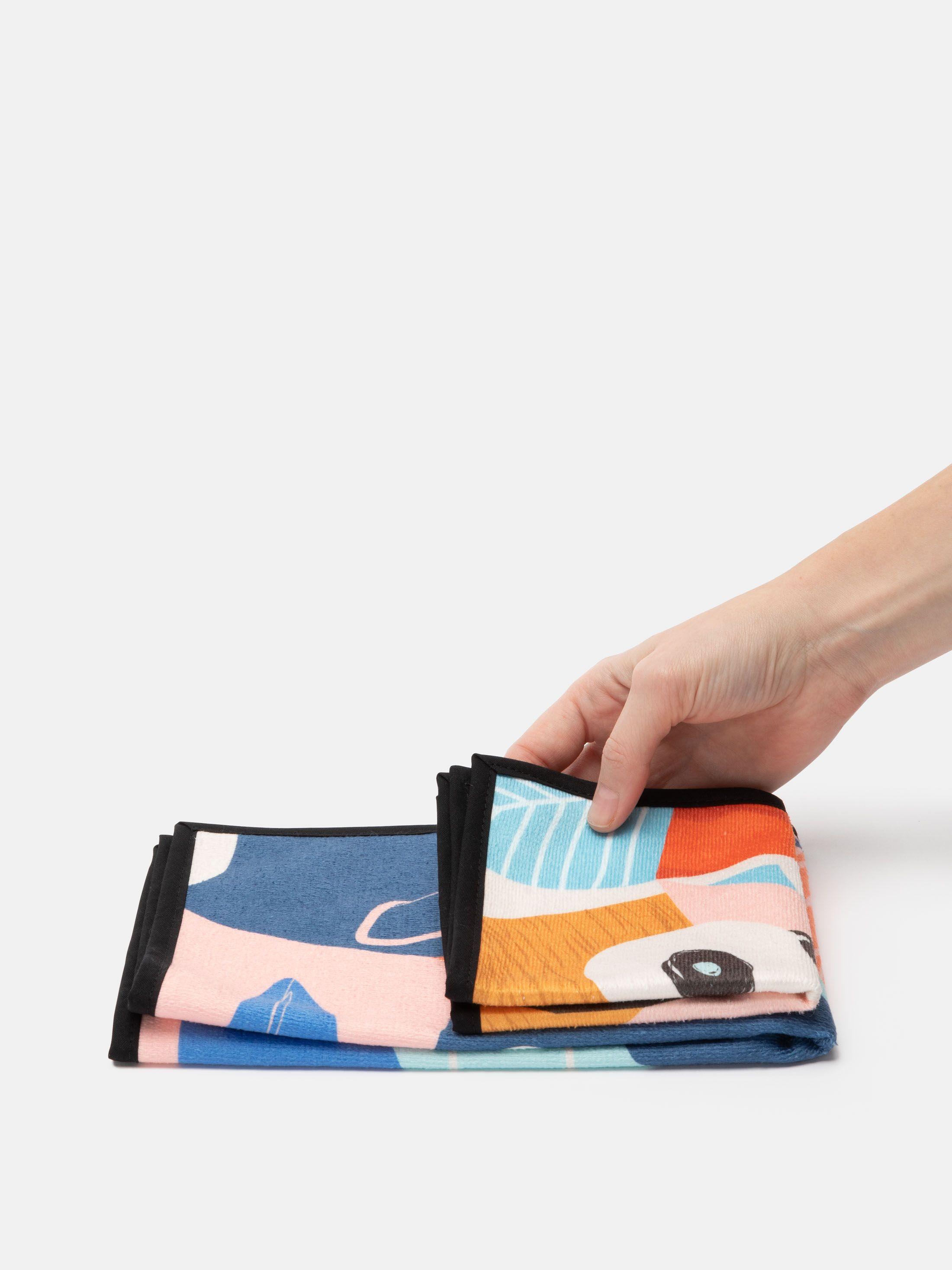 gepersonaliseerde handdoekenset met gekleurde rand