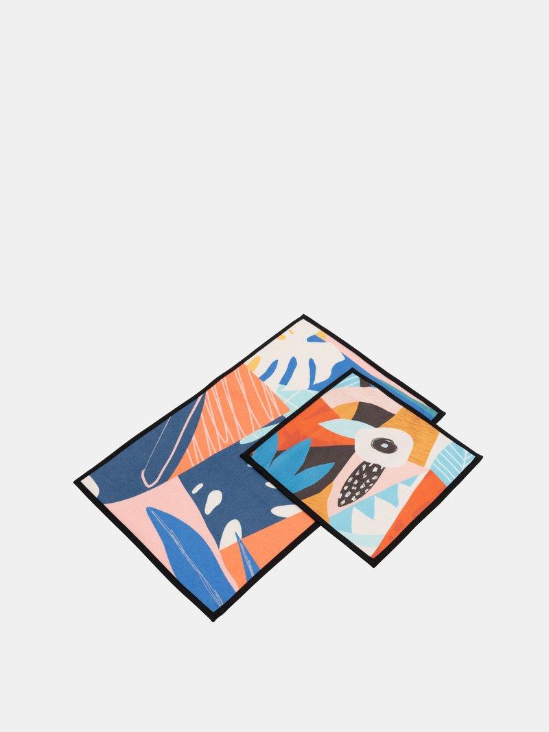 printed towel set