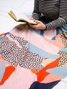 dettaglio bordi curvi plaid personalizzato