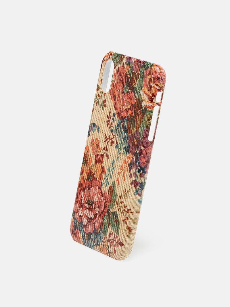 Coque iPhone X design fraises et fleurs