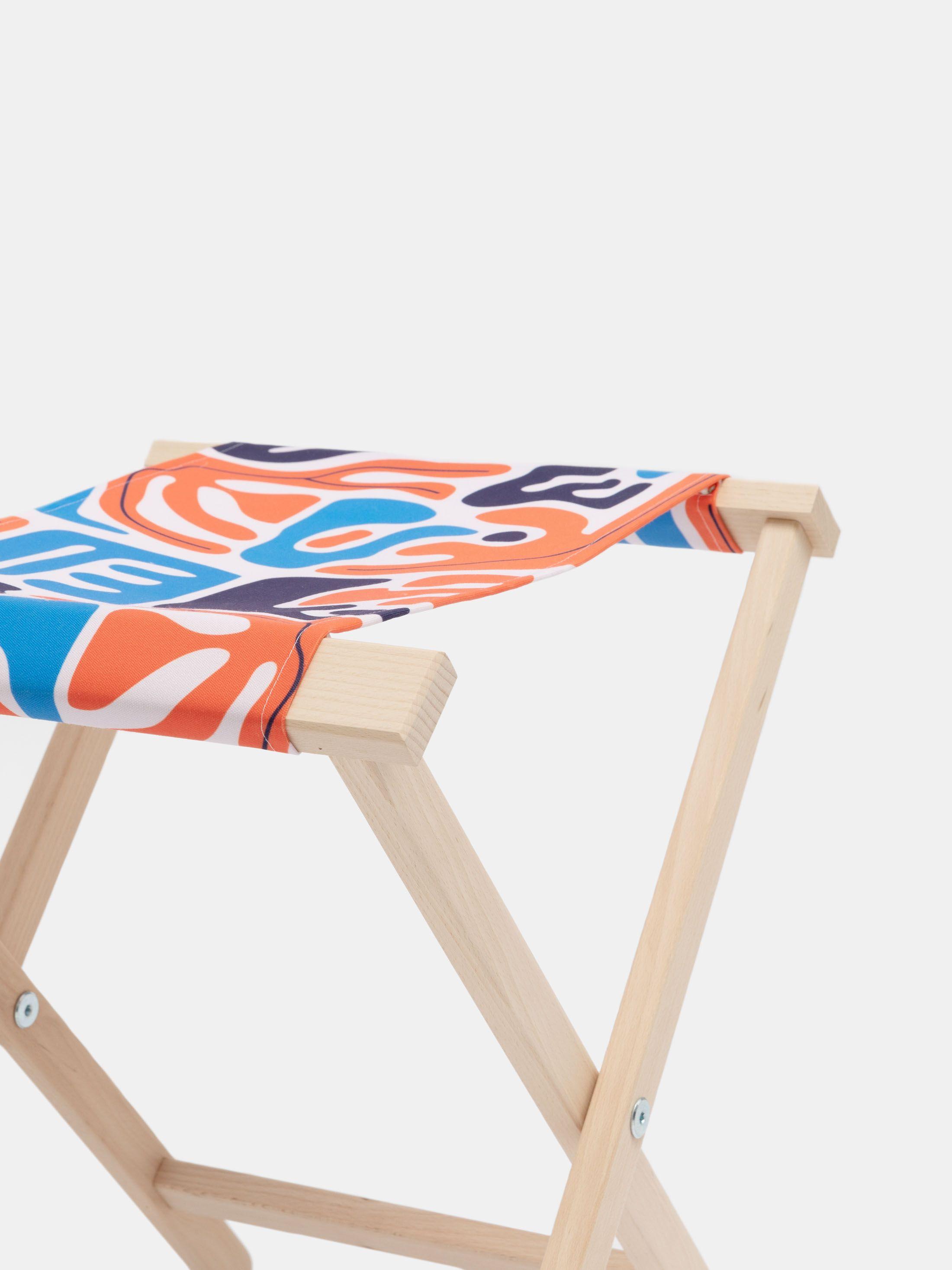 chaise pliante personnalisable, version pliée