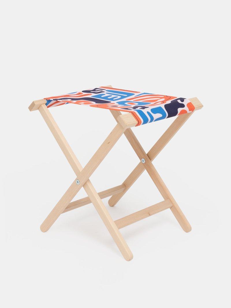 chaise pliante personnalisée avec imprimé fleuri