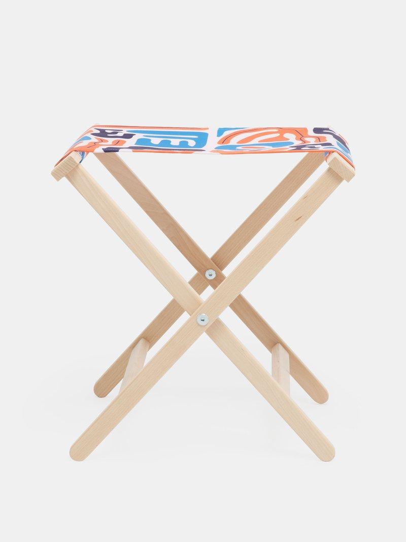 impression sur chaise pliante motif soirée d'été