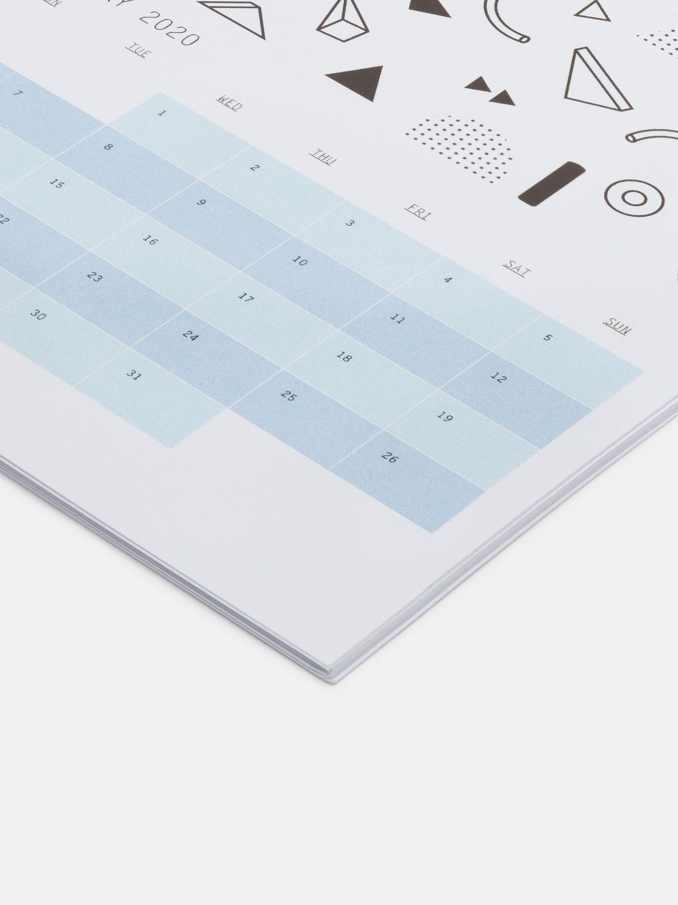 calendrier imprimé de bureau personnalisé